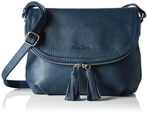 TOM TAILOR für Frauen Taschen & Geldbörsen Umhängetasche mit Quasten-Detail dark blue cognac, OneSize