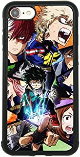 My Hero Academia Anime Manga Comic Theme Case for iPhone 7, iPhone 8 (4.7 Inch) TPU Silicone Gel Edge + PC Bumper Case Skin Protective Printed Phone Full Protection Cover