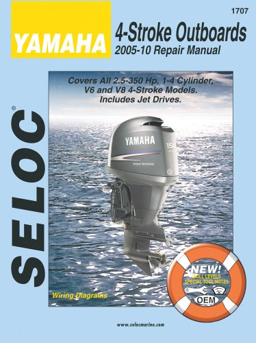 Price comparison product image Yamaha 4-Stroke Outboards 2005-10 Repair Manual: 2.5-350 Hp,  1-4 Cylinder,  V6 & V8 Models