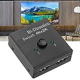 Shanrya Convertidor Bidireccional, Interruptor Bidireccional ABS, para Adaptador(Negro)