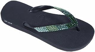 2760f1be9 Lori Jack Swarovski Crystal Flip Flops (41 42