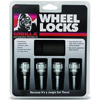 Gorilla Automotive 47142N 14mm x 1.25 Thread Size Cone Seat Lug Bolt Wheel Lock, (Set of 4)