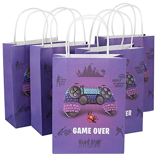Lowest Prices! 12 Pack Video Game Party Supplies Favor Gift Bags, Treat Bag for Birthday Party, LLama Pinata Contoller Pattern