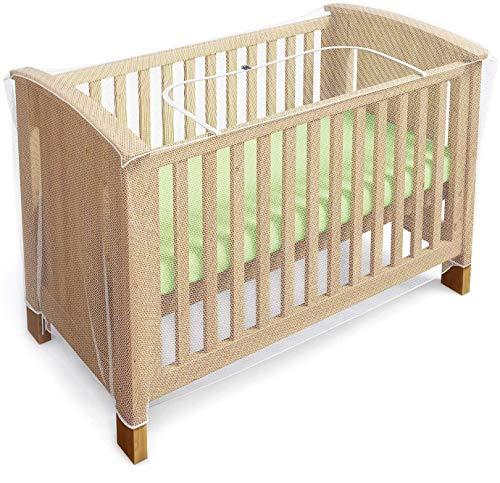 Moskitonetz für Kinderbett, Krippe & Gitterbett - Baby Moskito Insektennetz - Katzennetz mit Reißverschluss für schnellen, einfachen Zugang zu Ihrem Baby (von Luigi's)
