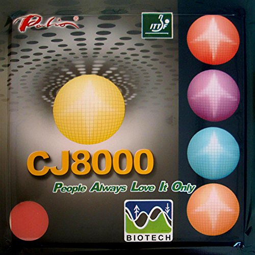 Great Price! Palio CJ8000 BIOTECH (H40-42, Short-Middle Court, Loop+Attack) Pips-In Table Tennis (Ping Pong) Rubber With Sponge (red, 2.2mm)