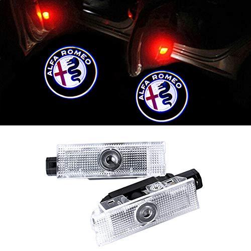 Preisvergleich Produktbild GEEANDLY 2 Stück Autotür Logo Türbeleuchtung Einstiegsleuchte Projektor Licht Willkommen Licht