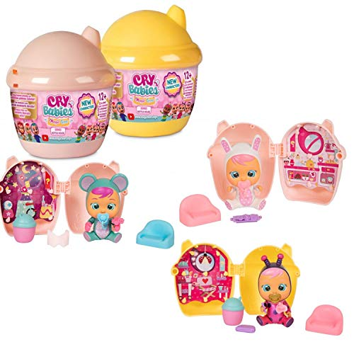 IMC Toys Cry Babies Mini Puppen mit Flaschenhaus Serie 3