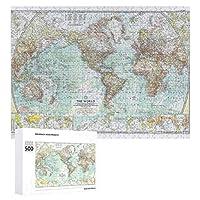 INOV 世界: 1957年-詳しい地図 ジグソーパズル 木製パズル 500ピース キッズ 学習 認知 玩具 大人 ブレインティー 知育 puzzle (38 x 52 cm)