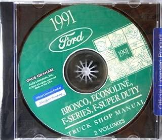 1991 FORD TRUCK, PICKUP & VAN FACTORY REPAIR SHOP & SERVICE MANUAL CD - INCLUDES Bronco, F-150, F-250, F350, Econoline E-150, E-250, E-350, F-Super Duty -COVERS Engine, Body, Chassis & Electrical. 91