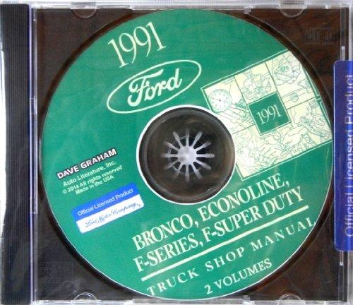 1991 FORD TRUCK, PICKUP And VAN REPAIR SHOP And SERVICE MANUAL CD F-150, F-250,...