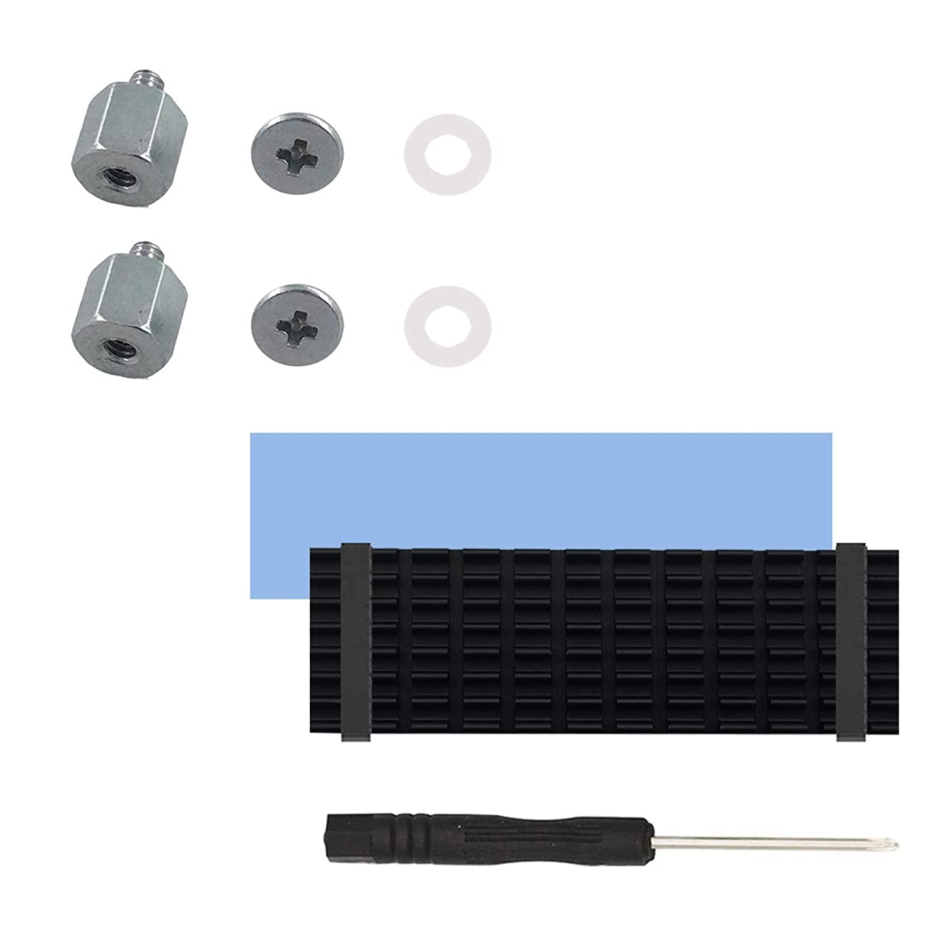 SGTKJSJS M.2 Screw Heatsink Kit,NVMe Screw m.2 Cooling Mounting 2280Thermal pad Kit