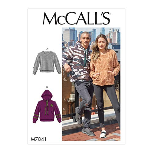 McCall's Patterns McCall's Men and Women's Sweater and Hoodie Sewing, Sizes XL-XXXL Patterns