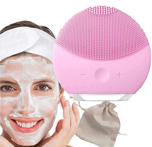 Set Cepillo de Limpieza Facial de Silicona, Diadema Pelo y Bolsa de Viaje Mistik, Masajeador Facial y Dispositivo de Cuidado de la piel Antienvejecimiento