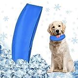 1 Pieza Collar Refrigerante, Collar Enfriamiento Perro, Bandana Refrescante para Perros/Gatos, Mantiene a Las Mascotas Frescas, Ajustable, Azul - XL