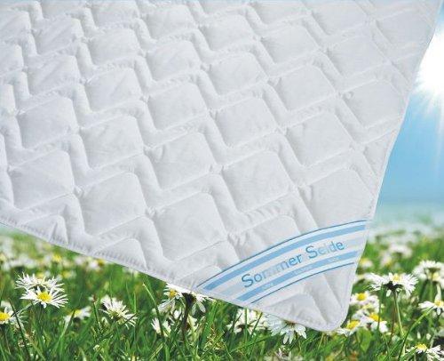 Garanta Sommerdecke Bettdecke Wildseide-Baumwolle 155x220 leicht, Füllung 60% Seide und 40% Baumwolle