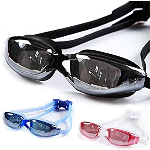 INFIKNIGHT INF Professional HD Swim Goggles with Swimming Cap Adult Anti Fog Clear Lens Swimming Glasses Waterproof Pool Swim Eyeglasses