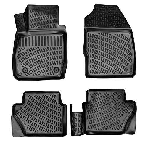 3D Auto Matten Fussmatten für Ford Fiesta (2009-2017) passgenaue Gummimatten