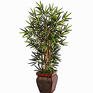 """31.5″ Artificial Bamboo Tree in Planter, Overall: 42"""""""" H x 24"""""""" W x 24"""""""" D, Placement: Floor"""