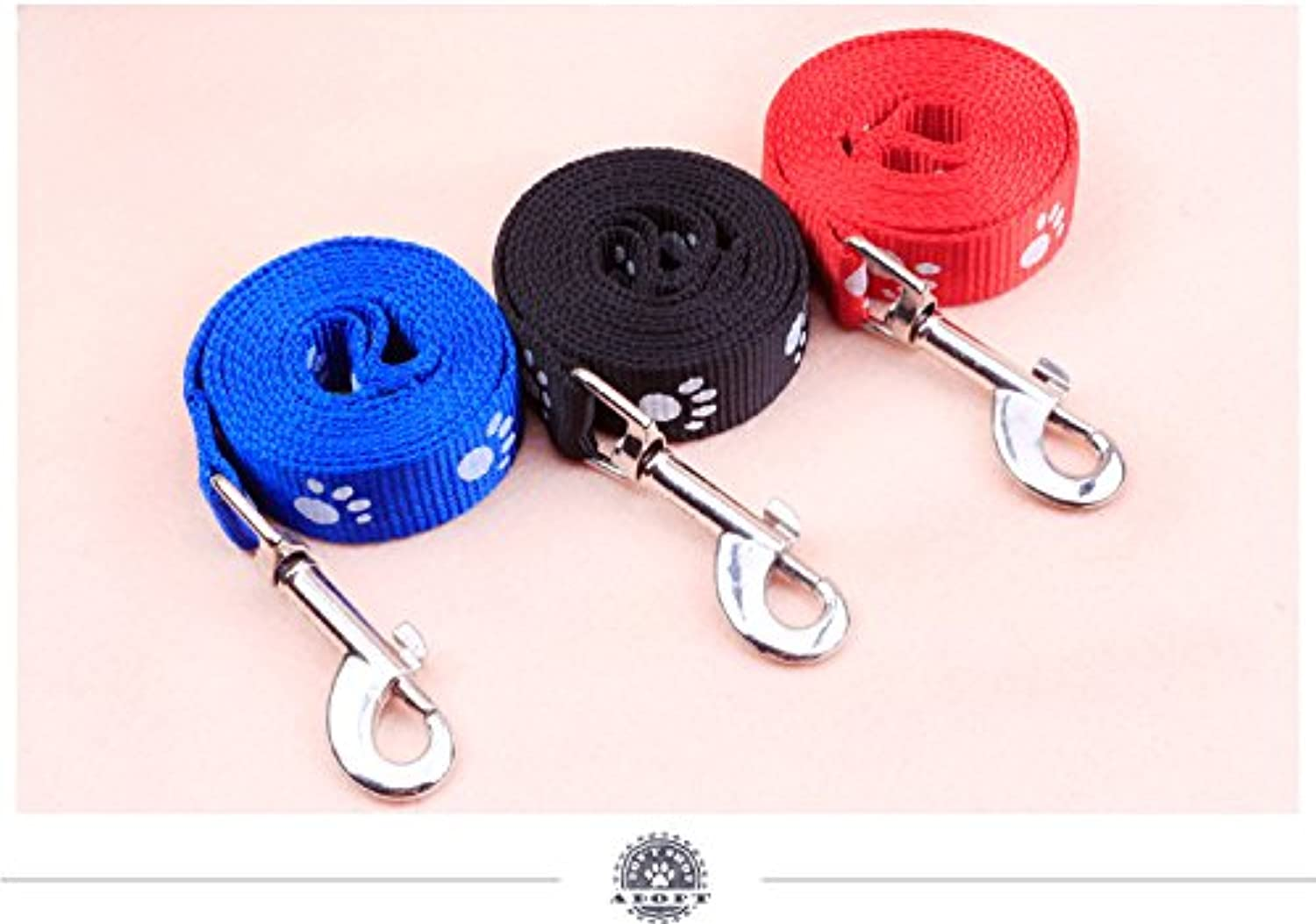 Dog Chest Back, 3X pet Foot Indonesia Dragon Chest Traction Rope 1.0CM Wide Durable Double Foot Dog Leash Dog Traction Collar Set Dog Rope pet Supplies
