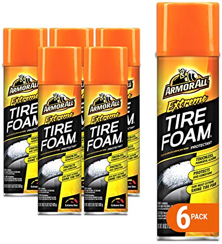 Armor All Extreme Car Tire Foam Spray Bottle, Cleaner for Cars, Truck, Motorcycle, 18 Oz, Pack of 6, 18930-6PK