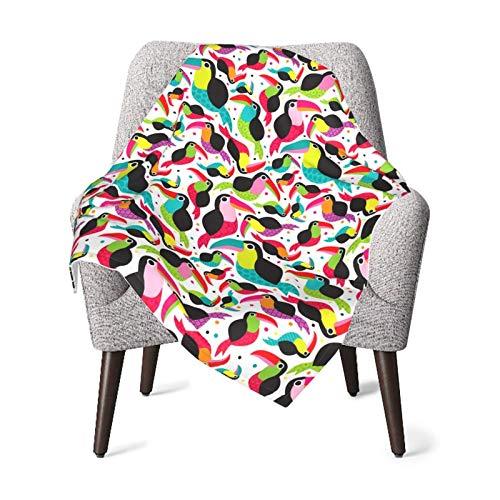 Tucan Birds - Manta de bebé colorida para niños y niñas recién nacidos