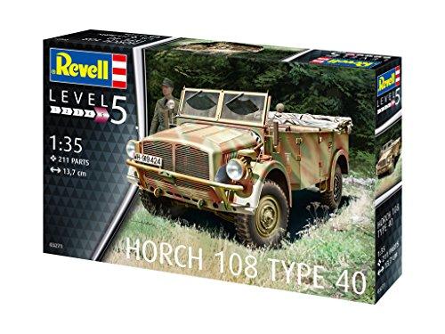 Revell 03271 14 Modellbausatz Horch 108 Type 40 im Maßstab 1:35, Level 5