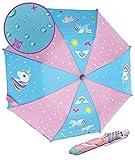Paraguas de unicornios mágicos HECKBO para niñas - Cambia de color cuando llueve - Paraguas plegable: cabe en cualquier mochila