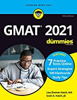 GMAT For Dummies 2021 - Book + 7 Practice TestsOnline + Flashcards
