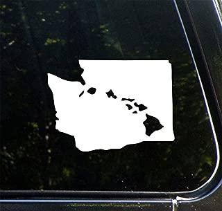 Yadda-Yadda Design Co. Aloha Washington - Hawaiian Islands in The State of Washington - Vinyl Car Decal - Copyright 2016 (5.5