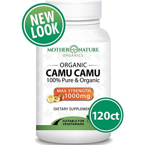 Organic Camu Camu Berry - 120 Vegan Capsules - Natural Vitamin C for Immune Support,  Antioxidant Protection - Fresh Harvest from Peru