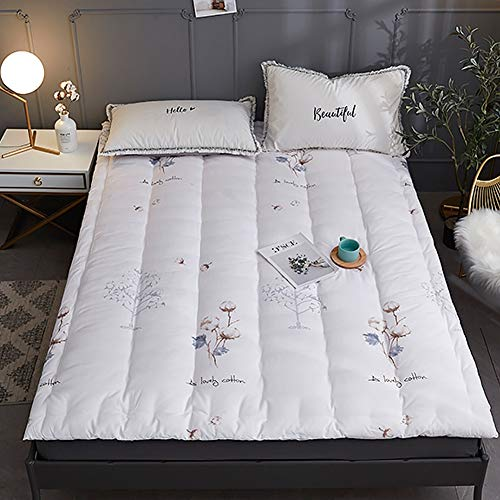 KMatratze Cojín de algodón de algodón de algodón para el Tatami, colchón de Tatami de algodón Puro, colchón Acolchado Ultra Suave Plegable (Color : A, Size : 90x190cm)