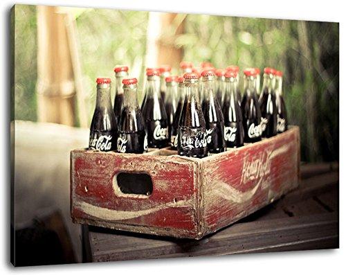 oude Coca Cola flessen schilderij op doek, XXL enorme Foto's volledig ingelijst met brancard, Art print op muurfoto met frame