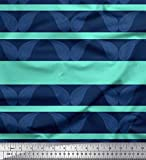 Soimoi Verde saten de seda Tela raya y cachemir tela estampada impresa por metro 42 Pulgadas de ancho