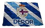 Real Club Deportivo de La Coruña Baddep Bandera, Blanco/Azul,...
