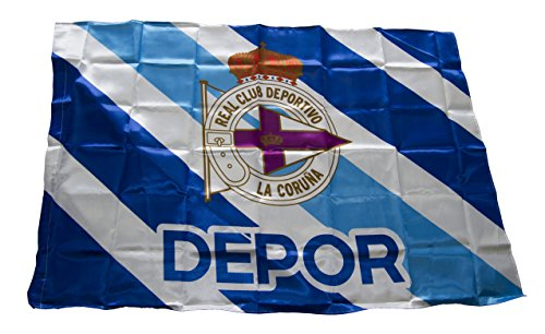 Real Club Deportivo de la Coruña baddep vlag, wit/blauw, eenheidsmaat