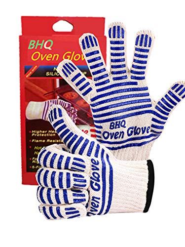 CZSYZCZS Oven Handschoenen, Hot Surface Handler, Oven Mitts - Koken, Aanpassen, Repareren & Werk Veilig met de handschoen die bestand is tegen temperaturen tot 540°F Handschoen, Blauw (2 Pack)
