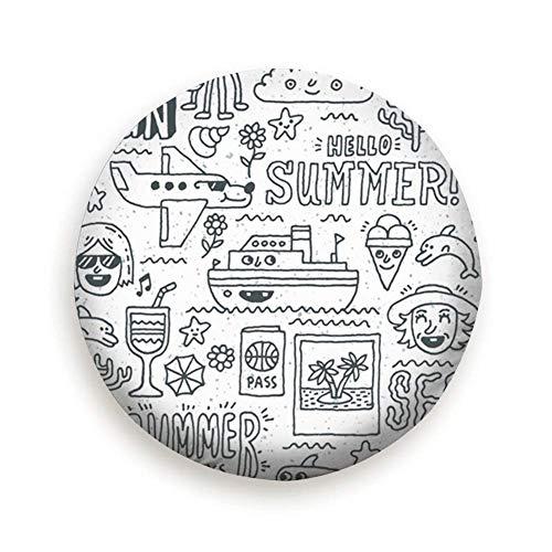 Vacanze estive Viaggio di Vacanza Divertente Doodle Vacanze di scorta Tipo di copertone Copriruota 16 '' Pollici