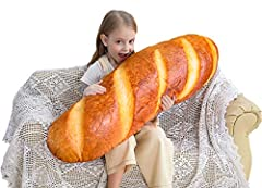 3D Lively Bread - French bread design with vivid color, just like a huge delicious bread. Don't drool when sleeping on it. High Quality - Made of skin-friendly plush fabric with PP cotton lining, soft, silky and comfortable Multifunction – Can be use...