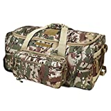 Warrios Product Wheeled Deployment Bag Military Tactical Trolley Duffel Bag,Rolling Luggage for Heavy-Duty Camping,Hiking(OCP)