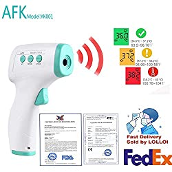AKTmodel: YK100 [Sent Within 24 Hours] Adult and Child Forehead Thermometer, Non-Contact Infrared Digital Baby Thermometer, Accurate Instant Readings, Fever Alarm, LCD Display-CE and FDA Certified
