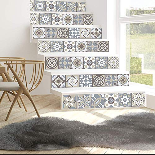 Walplus WT1531 - Purbeck Stein Fliesen Wand Sticker - 15 CM X 15 CM - 24 Teile - Kalkstein Spanische
