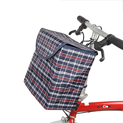Fietsmand Fietsmand Schaalmand Vouwmand voor Mand Mountainbike Opknoping Mand Met Deksel Metalen Haak Afneembaar