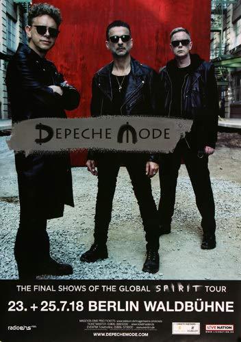 Depeche Mode - The Final Show, Berlin 2018 » Konzertplakat/Premium Poster | Live Konzert Veranstaltung | DIN A1 «