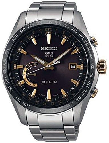 Seiko astron orologio Uomo Analogico Automatico con cinturino in Titanio...