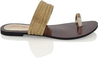 Best gold diamante sandals flat Reviews