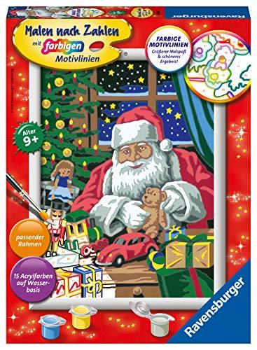 Ravensburger Malen nach Zahlen 28488 - In der Weihnachtswerkstatt - Für Kinder ab 9 Jahren