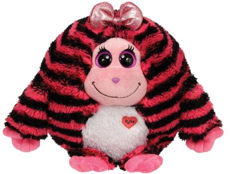 Ty - Beanie Monstaz Zoey schwarz/pink gestreift 15 cm