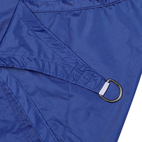 Gycdwjh Vela de Sombra Triángulo, Protección Rayos UV Toldos Material de Poliéster Resistente y Transpirable Toldo Vela con Cuerda Fija para Patio Exteriores Jardín 10 * 10 * 10FT,Royal Blue