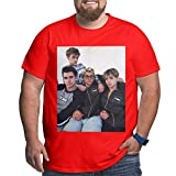 Dobre Brothers Camisetas Camisetas de Manga Corta para Hombre Tallas Grandes Camiseta de algodón Xl-6xl Red XL