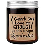 Lavender Scented Candle - Best I Love You for Her, Him, Mothers Day Birthday Gifts for Girlfriend, Boyfriend, Mom, Daughter, Sister, Best Friend, Dad, Anniversary Gifts for Wife, Husband